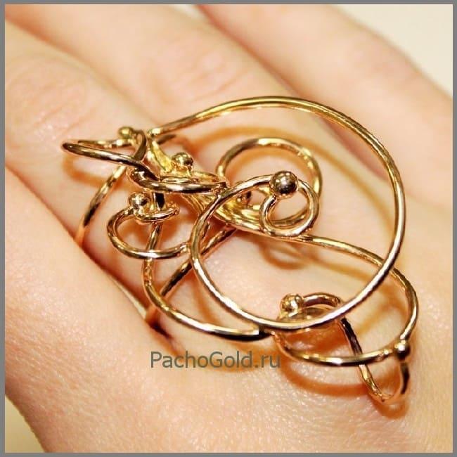 Авторское кольцо Зачарованные из золота
