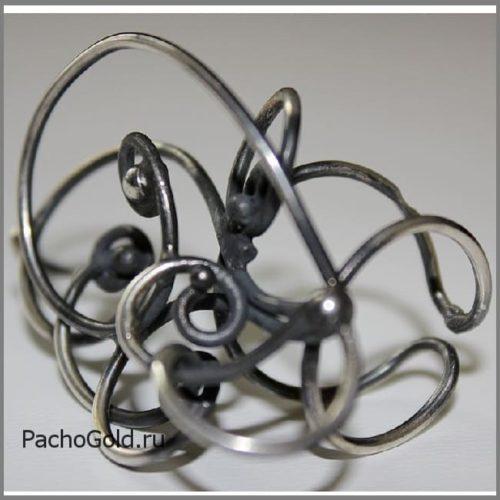 Авторское кольцо из серебра ручной работы Зачарованные 2