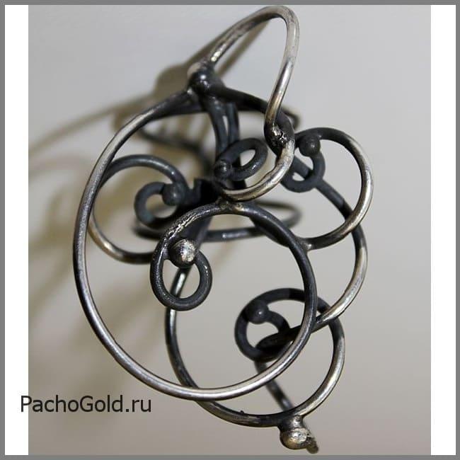 Авторское женское кольцо из серебра Зачарованные 2