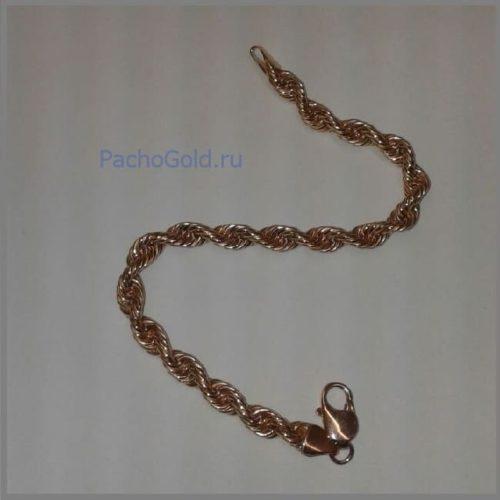 Браслет Веревка из золота