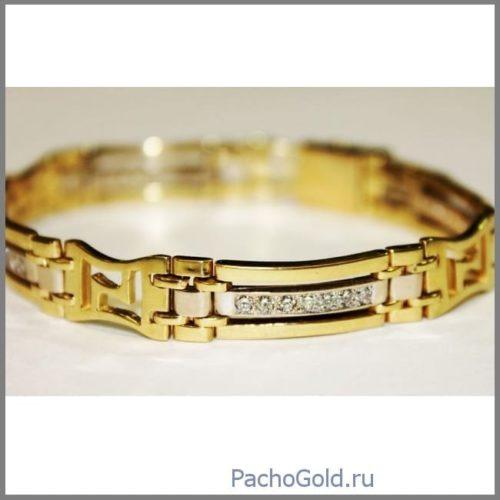 Брутальный браслет из золота Bold Gold