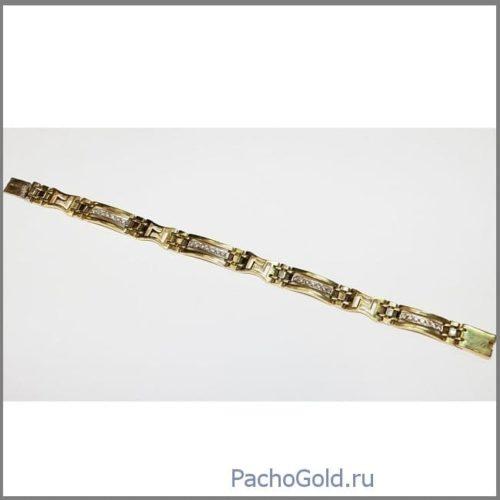Брутальный браслет из золота Bold-Gold на заказ
