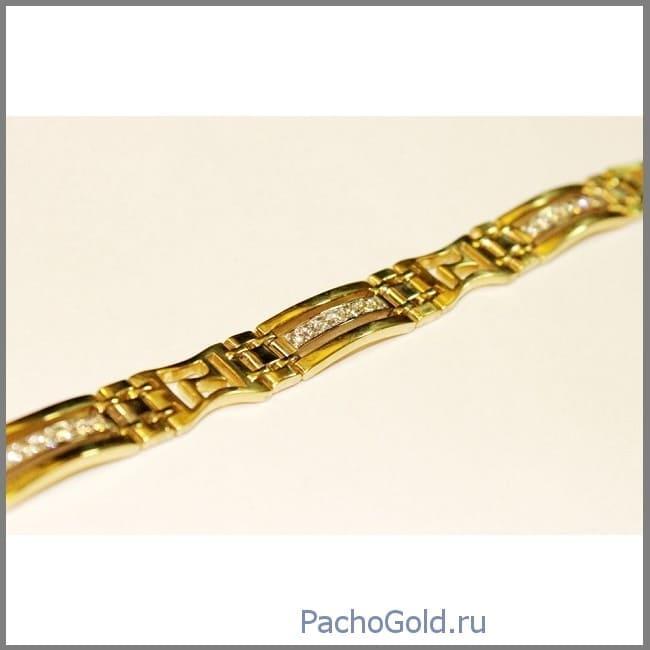 Брутальный браслет из золота Bold-Gold ручной работы