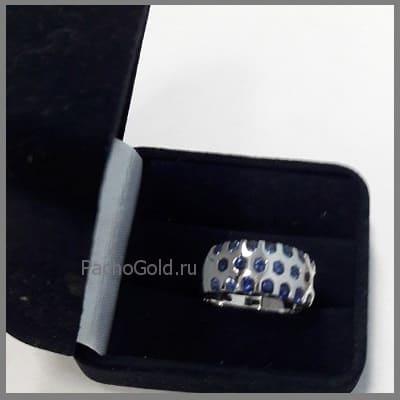 Дорожка из сапфиров для женского кольца