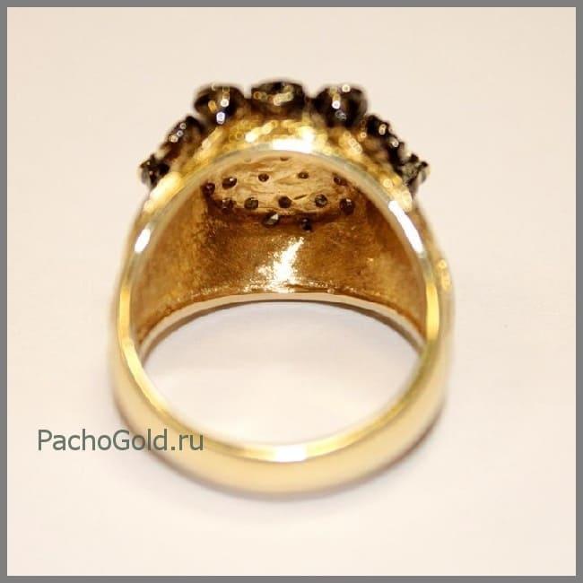 Эффектное женское кольцо Черная роза