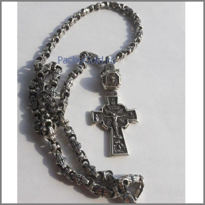 Кельтский серебряный крест на заказ