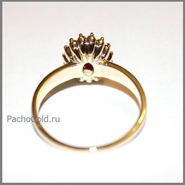 Кольцо Королевский рубин