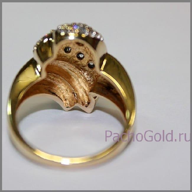 Кольцо Маркиза из золота ручной работы