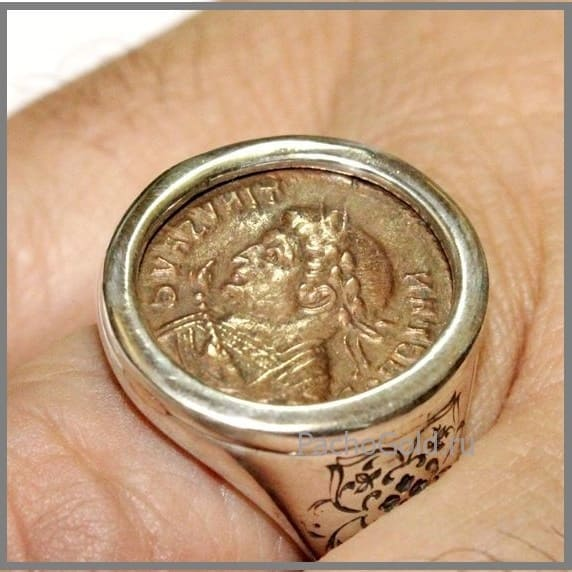 Мужское кольцо Счастливая монета