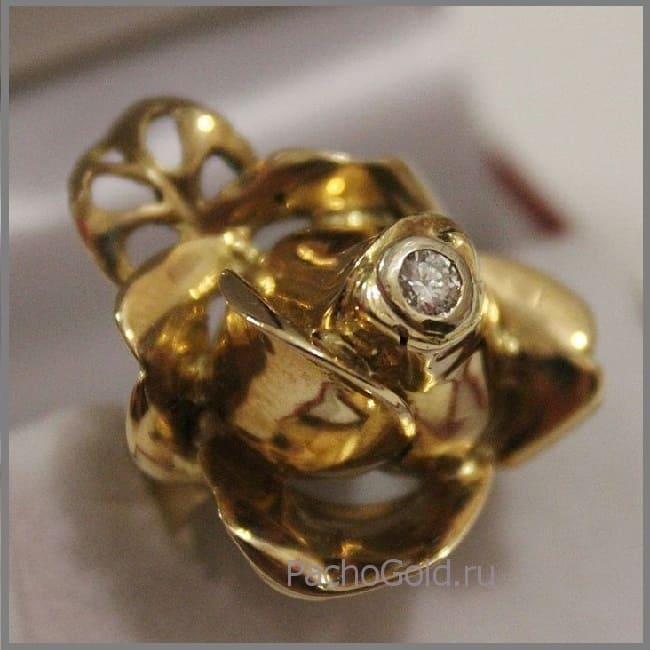 Кольцо Золотой цветок на заказ