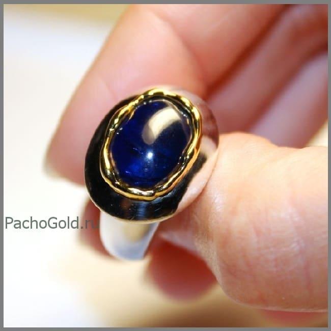 Кольцо для женщины с сапфиром precious на заказ