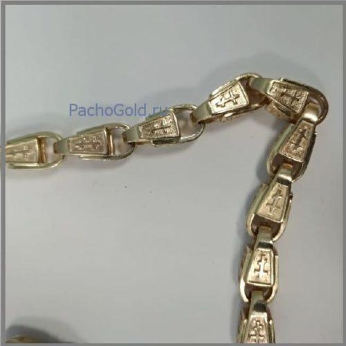 Крупная мужская золотая цепочка ручной работы