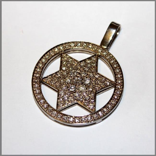 Кулон Звезда из золота для мужчины или женщины