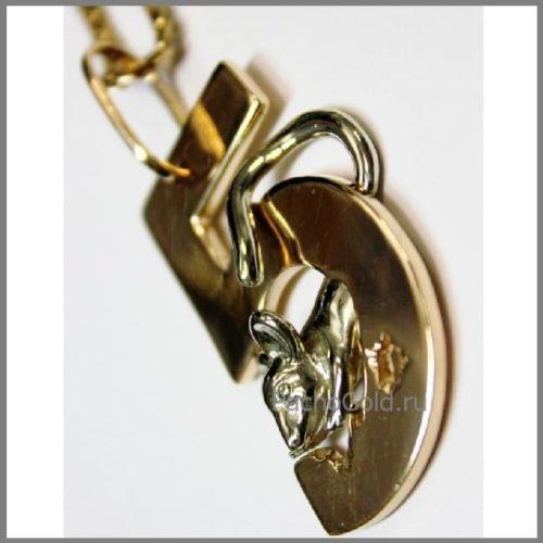 Кулон для девочки отличницы на заказ из золота