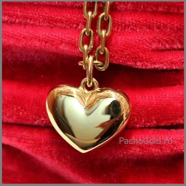 Кулон в виде сердца