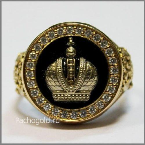 Мужская печатка Корона Российской Империи