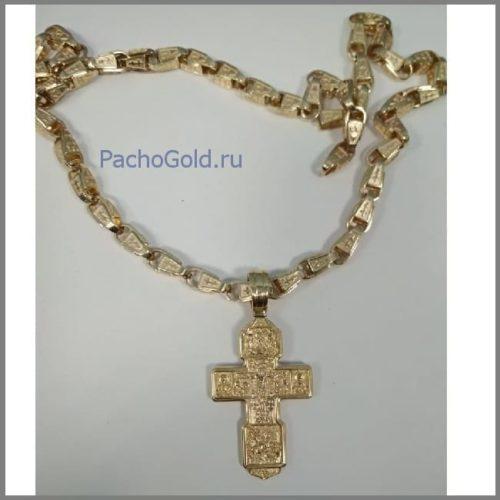 Большой крест для мужчины из золота на заказ