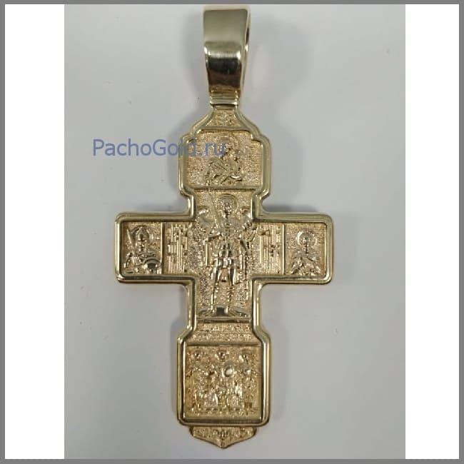 Мужской большой крест из золота