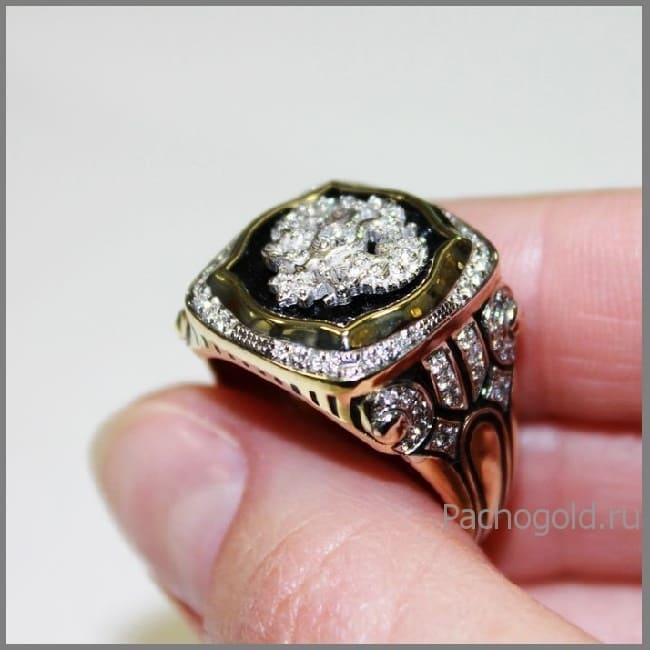 Мужской перстень Император на заказ