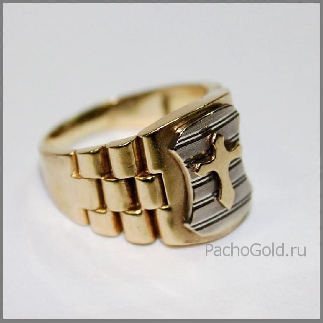 Мужской перстень с геральдическим знаком Защитник
