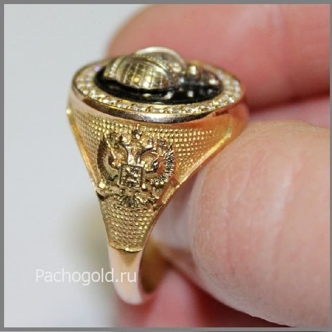 Мужское кольцо Корона Российской Империи