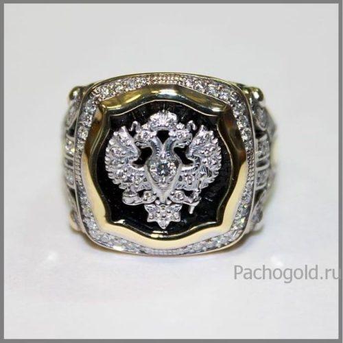 Мужское кольцо из золота Император