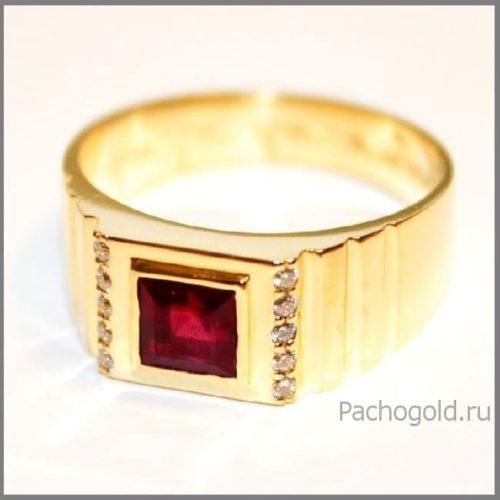 Мужское кольцо с рубином Rubin