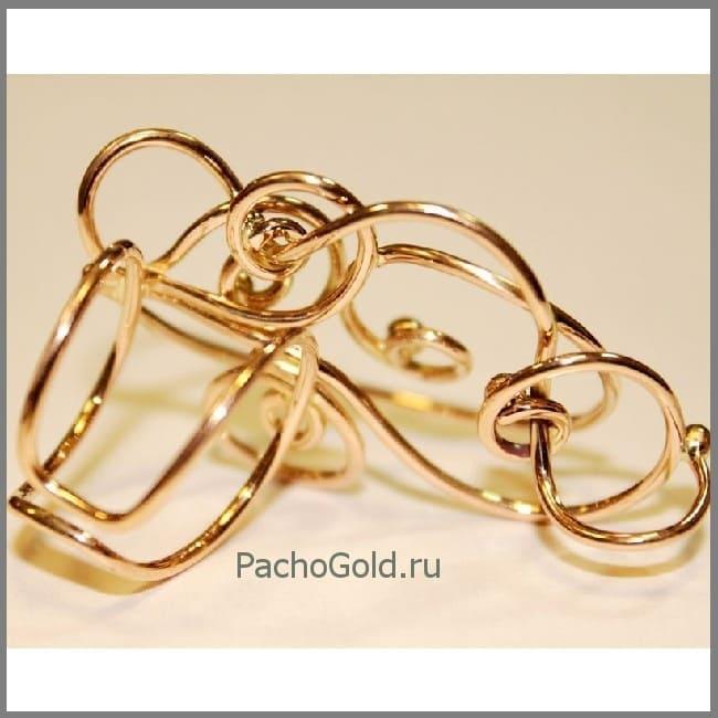 Нестандартное кольцо из золота Зачарованные