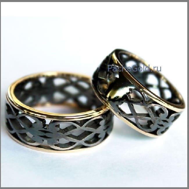 Парные золотые обручальные кольца на заказ
