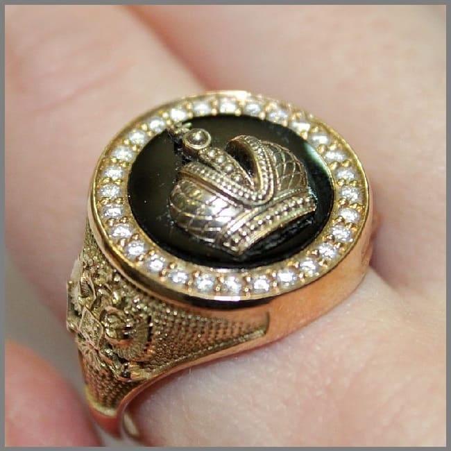 Перстень с агатом Корона Российской Империи