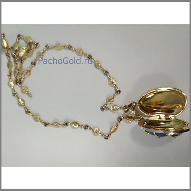 Открывающийся золотой кулон для женщины