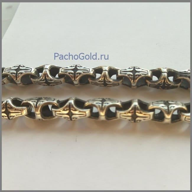 Серебряная цепь краб ручной работы