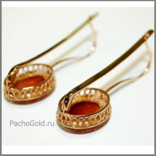 Сережки с камеями Анна Мария ручной работы
