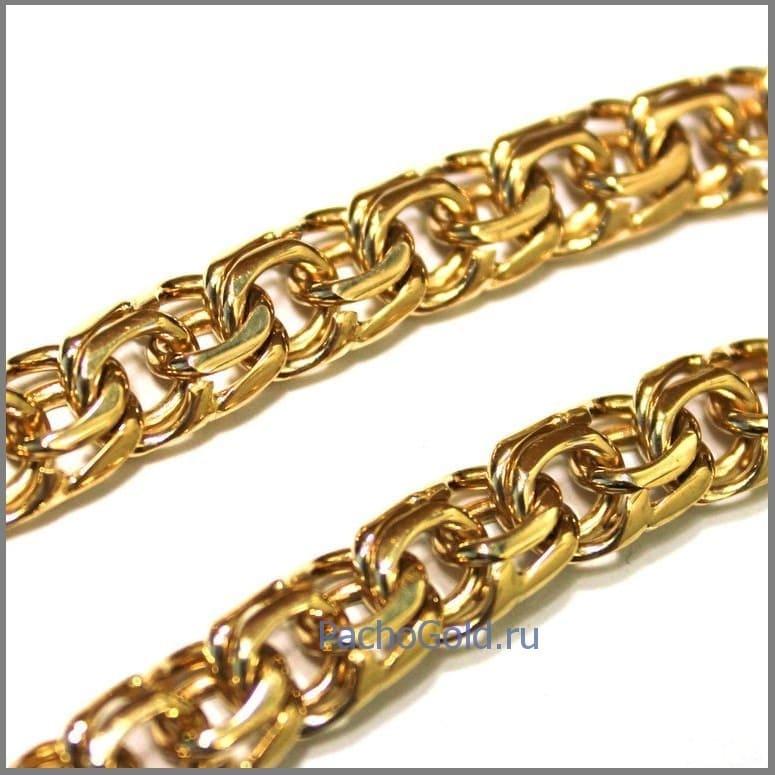 Цепь плетения Бисмарк из золота на заказ