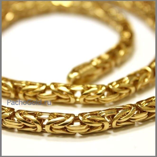 Золотая цепочка плетения Лисий хвост
