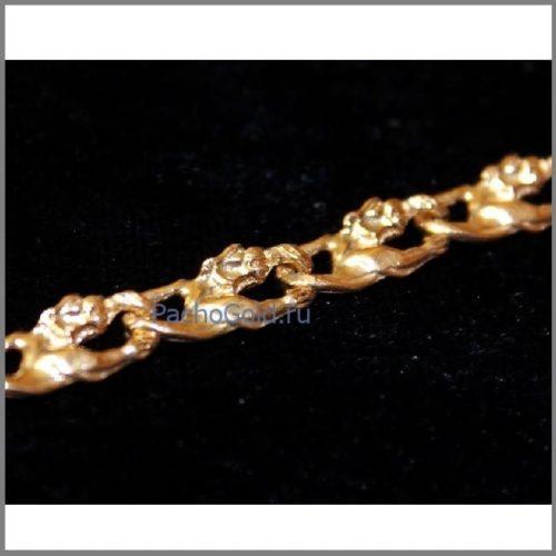 Золотая цепочка плетения Львы