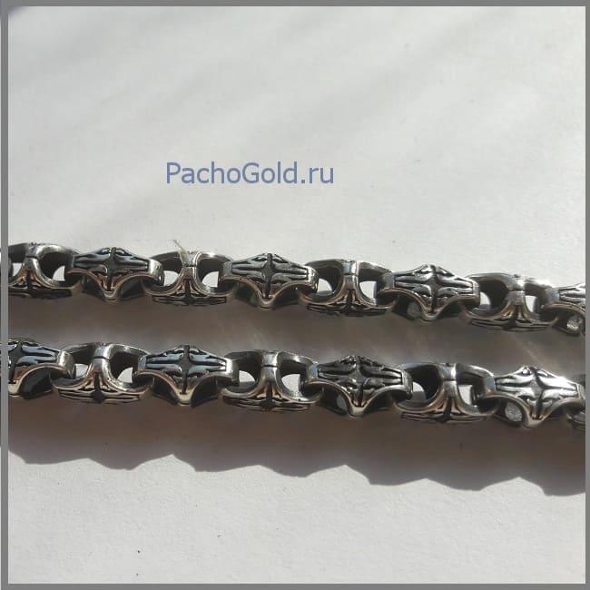Черненое серебро - плетение краб