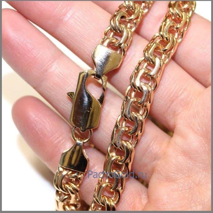 Цепочка плетения Бисмарк ручной работы из золота