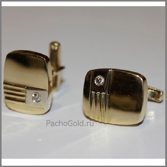 Запонки из золота Big-Boss ручной работы