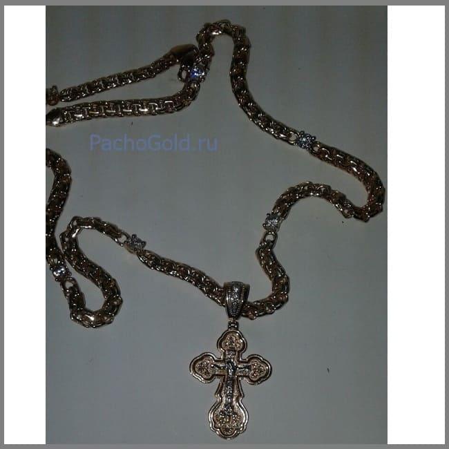 Женская золотая цепочка с камнями по своему выбору