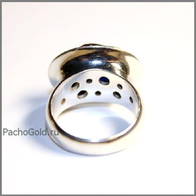Женское кольцо с большим рубином кабошоном precious