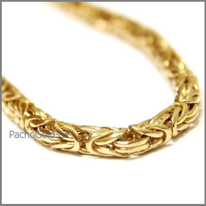 Золотая цепь плетения Лисий хвост ручной работы