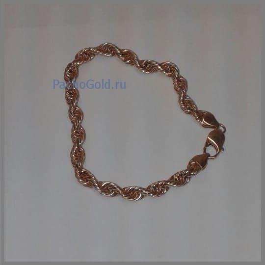 Золотой браслет плетения веревка