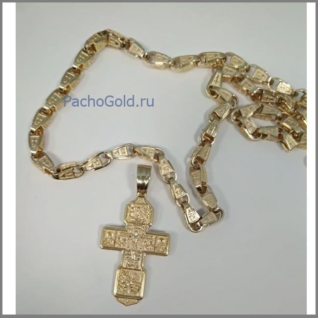 Золотой мужской большой крест