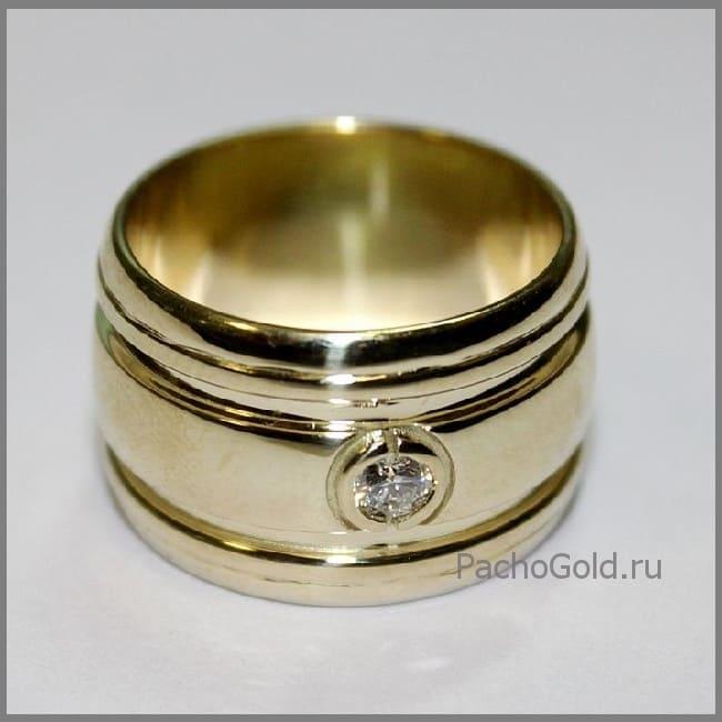 Золотое широкое кольцо Солнечная дорога