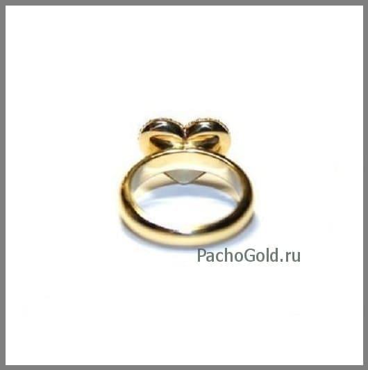 Золотое женское кольцо Сердце из бриллиантов на заказ
