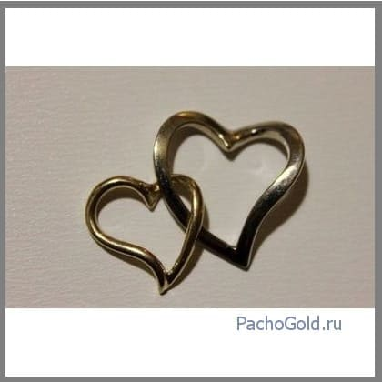 Два сердца из золота в паре