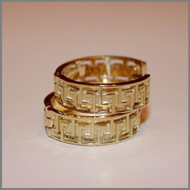 Золотые сережки Versache-Dream ручной работы