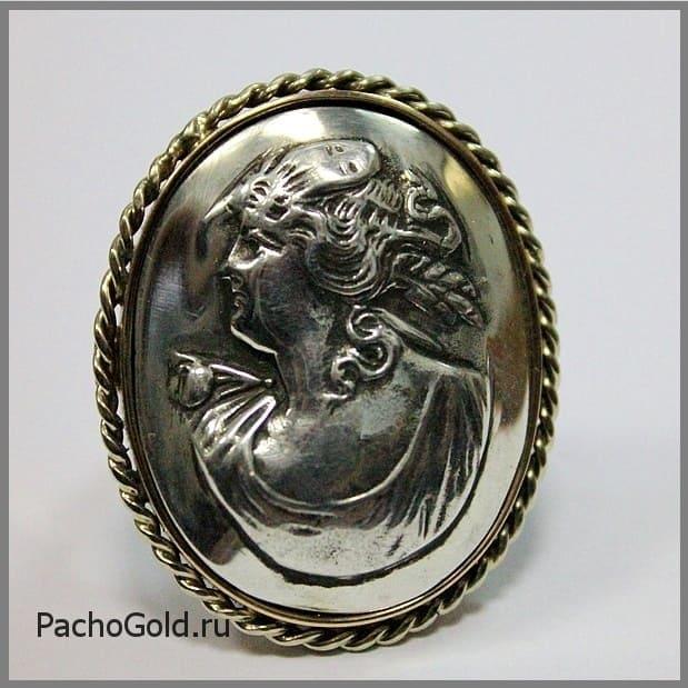 Авторская камея из золота или серебра ручной работы