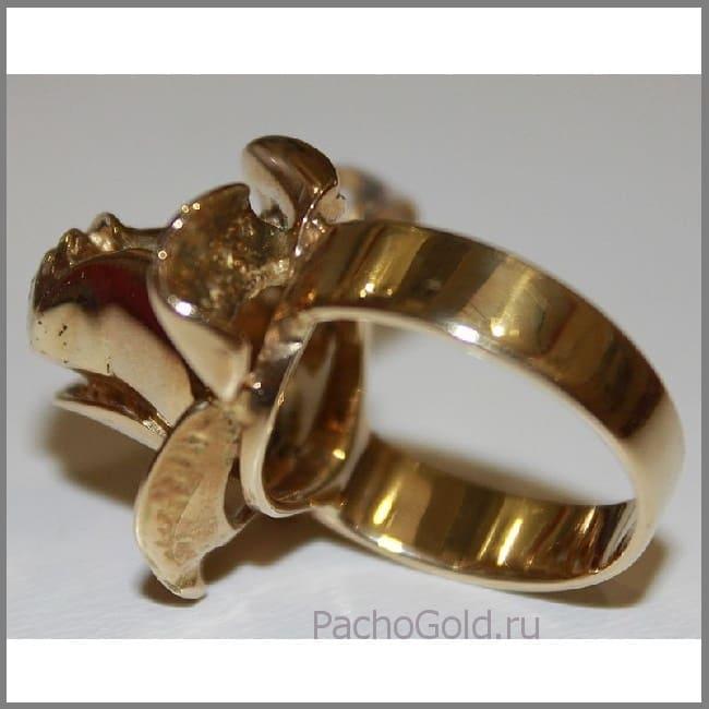 Авторская работа - кольцо Золотой цветок